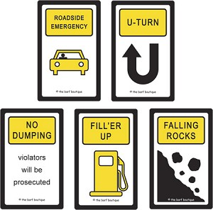 """Road Signs"" Bags - Variety Pack (5/pk)"