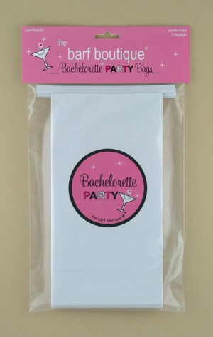 """Pink Sparkle"" Bachelorette Party Barf Bag (5/pk)"