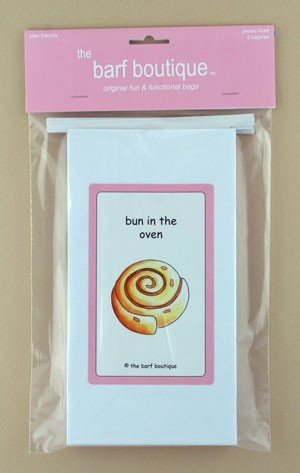 "Pink ""Bun in the Oven"" Barf Bag (5/pk)"