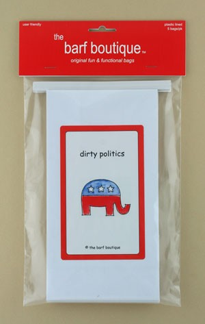 """Dirty Politics"" Elephant Barf Bag (5/pk)"
