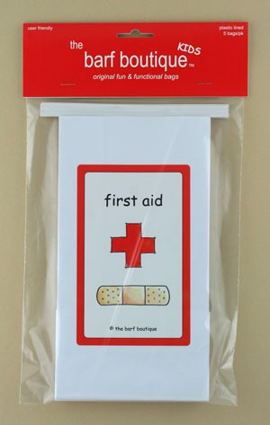 """First Aid"" Barf Bag - Kids (5/pk)"