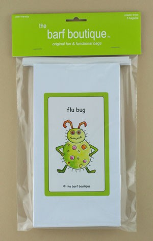 """Flu Bug"" Barf Bag (5/pk)"