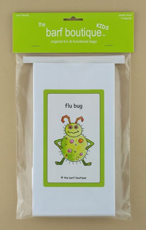 """Flu Bug"" Barf Bag - Kids (5/pk)"