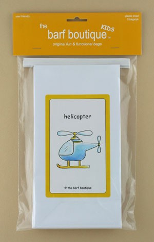 """Little Helicopter"" Barf Bag - Kids (5/pk)"
