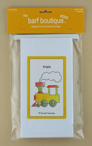 """Little Train"" Barf Bag - Kids (5/pk)"