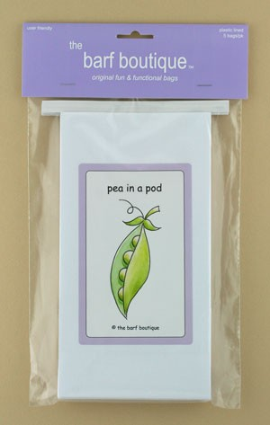 "Purple ""Pea in a Pod"" Barf Bag (5/pk)"