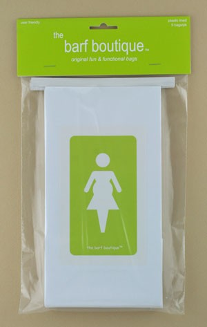"Green ""Pregnant Lady"" Barf Bag (5/pk)"