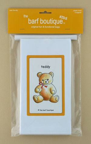 """Teddy"" Barf Bag - Kids (5/pk)"