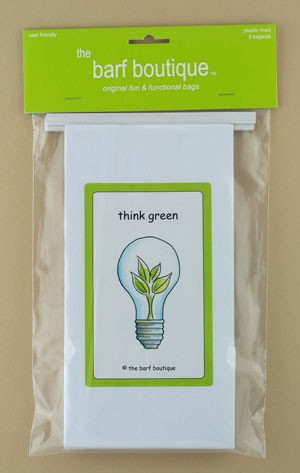"""Think Green"" Barf Bag (5/pk)"